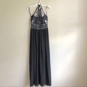 B. Darlin Black Halter Maxi Dress